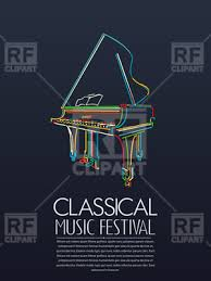 Music Event Poster With Piano On Grey Background 171439 Download Royalty Free Vector