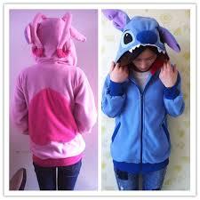 Lilo And Stitch Halloween by Kigurumi Lilo U0026 Stitch Blue Angel Hoodie Cosplay Coat Jacket New
