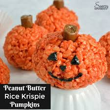 Hawaiian Electric Pumpkin Crunch Recipe by Peanut Butter Rice Krispie Treat Pumpkins Savory Experiments