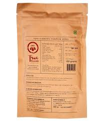 Shelled Pumpkin Seeds Nutritional Value by True Elements Shelled Pumpkin Seeds Raw 150 Gm Buy True Elements