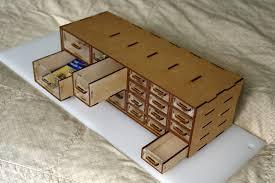 laser cut organizer box mdf acrylic plywood and cardboard