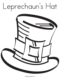 Leprechauns Hat Coloring Page