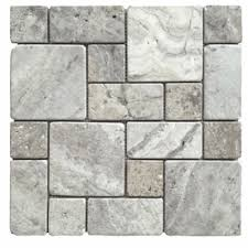 Avenzo Silver Natural Stone Mosaic Indoor Outdoor Wall Tile Common 12 In X Actual