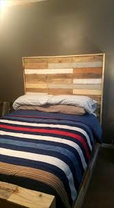Pallet Bed Frame by Beautiful Pallet Bed With Headboard U0026 Nightstand