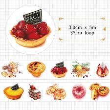 scrapbooking cuisine goozu food donut cake tea washi diy decorative