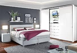 boxspringbett hellgrau schöne schlafzimmer wohnen bett