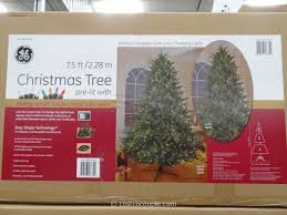 Pre Lit Christmas Trees On Sale by Ge 7 5 Feet Prelit Led Christmas Tree