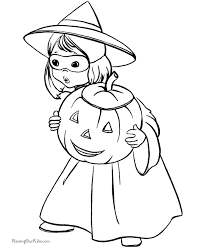 Printable Witch Of Halloween Coloring Sheets Free For Kids Picture 2