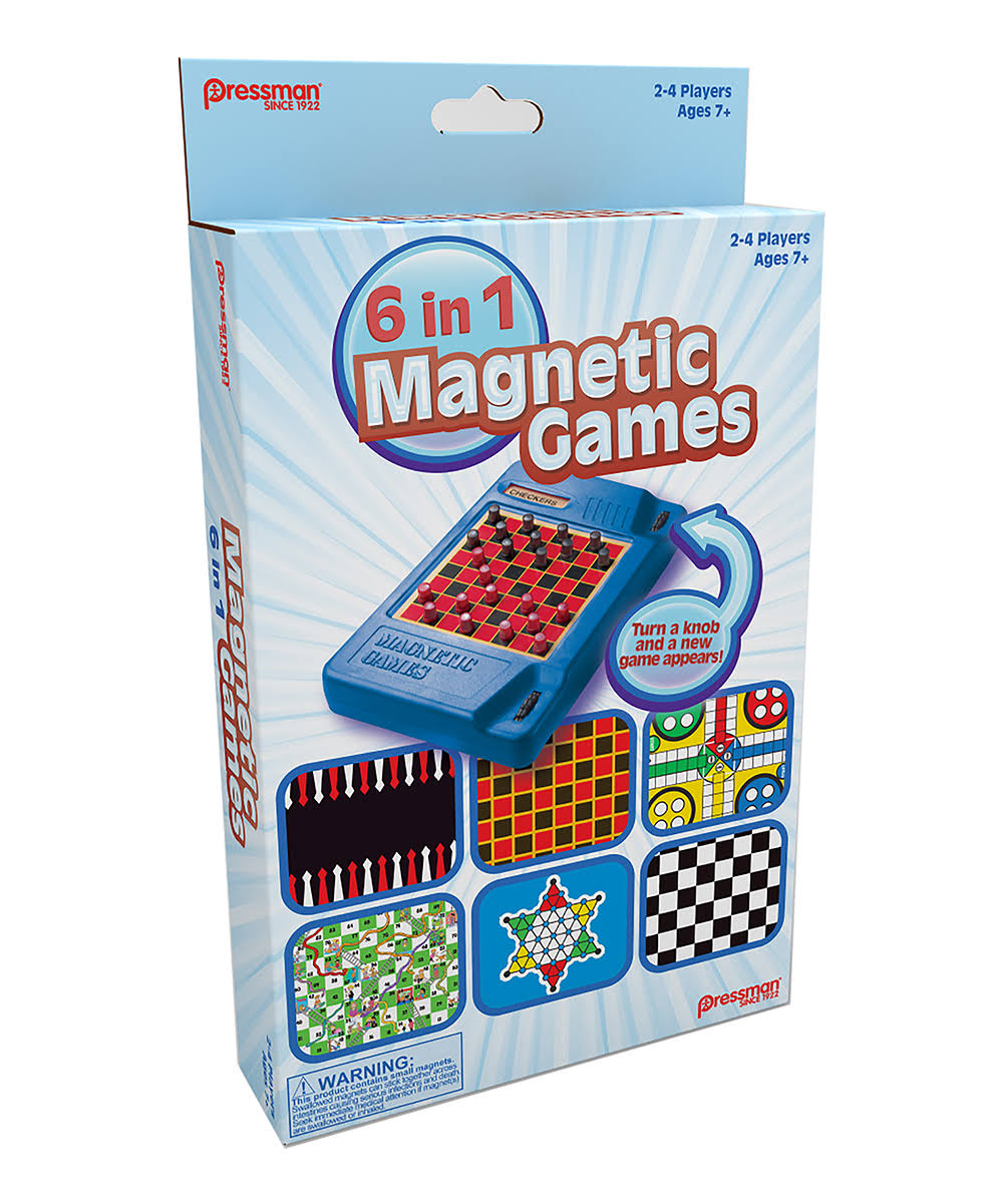 Pressman 6 in 1 Travel Magnetic Games