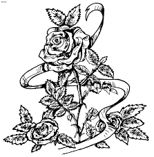 Free Rose Coloring Pages 510