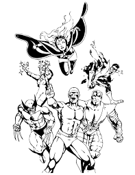 Classic X Men Comic Coloring Page
