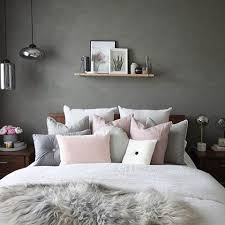 Love This Beautiful Grey And Pink Bedroom Image Decoride