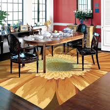 Modern Dining Room Decoration With Kohls Kitchen Rugs And Wood Flooring Also Table Setup Plus