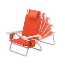 Picnic Time Reclining Camp Chair by Coleman Beach Chair Recliner Orange Camping Pinterest