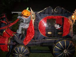 Airblown Inflatable Halloween Yard Decorations by Halloween Airblown Inflatable Headless Horseman Stagecoach With