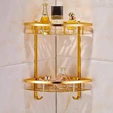 badezimmer goldregal dusche caddy space aluminium wand