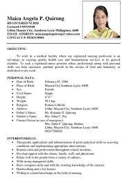 Newly Graduate Nurse Resume