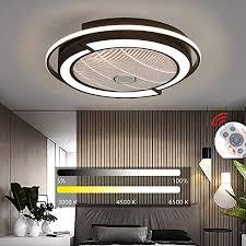 yaoxi led fan deckenleuchte deckenventilator mit beleuchtung fernbedienung leise dimmbar einstellbare windgeschwindigkeit deckenle für