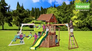 Saratoga Swingset Promo - YouTube Backyards Gorgeous Backyard Wooden Swing Sets Ideas Discovery Montpelier All Cedar Playset30211com The Set Accsories Monticello Walmart Itructions Big Appleton Wood Toys Photo With Amazing Unbeatable For Solid Fun Image Happy Kidsplay Clearance Playsets