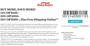 World Market Coupons - 15% Off At Cost Plus World Market, Or Online ... 28 Proven Cost Plus World Market Shopping Secrets The Krazy Coupon 40 Off Coupons Promo Discount Codes Wethriftcom Tint World Cary Code For Mermaid Swim Tails Save Money With Direct Cbd Online Coupon Get Now Coupons Lady Best Black Friday Sales Home Decor Fniture Peoplecom Market Archives Addisons Woerland On Itunes Baja Fresh And More Encino How To Develop A Successful Marketing Strategy Increase Hello Kitty Collecvideosinspiration Ecommerce Promotions 101 For 20 Growth