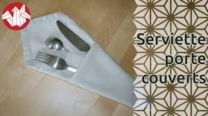 origami serviette porte couverts senbazuru