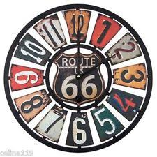 Item 2 Route 66 License Plate Rustic Vintage Style 16 DIAMETER CLOCK