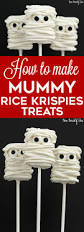 Rice Krispie Treats Halloween Theme by Mummy Rice Krispies Treats