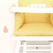 assise chaise haute coussin chaise haute indy en coton enduit pour bébé