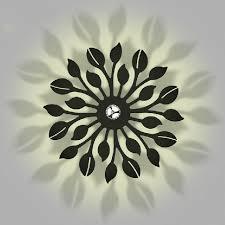 modern flowers wall lights fixture white black flower