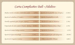 Cartas Restaurante Nino Miguel Ferrera