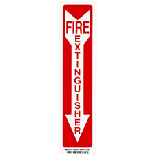 Fire Extinguisher Mounting Height Code by Brady 14 In X 3 1 2 In Polyester Fire Extinguisher With Arrow