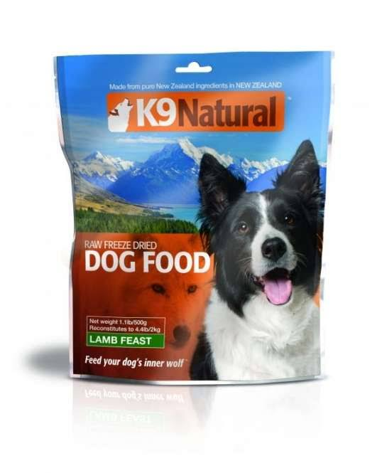 K9 Natural Freeze-Dried Dog Food - Lamb, 1.1lbs