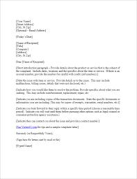 Free plaint Letter Template