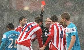Robert Huth red card