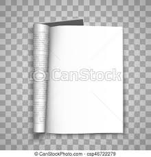 Open The Paper Journal Blank Magazin Transparent Background Page Template Design
