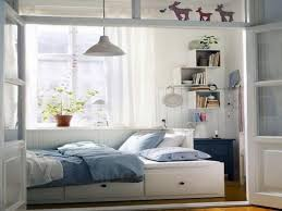 Outstanding Wonderful White Blue Wood Glass Modern Design Small Bedroom Ideas With Full Bed Remarkable Cream Queen