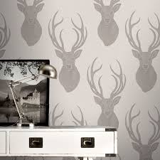 Ebay Home Decor Australia by Stunning Stag Wallpaper Various Designs In Soft Natural Tones