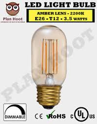 e26 3 5w t12 led filament light bulb lens with 2200k color