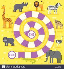 Estilo Plano Vector Ilustración De Niños Animales De Zoológico Juego