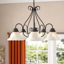Claycomb 5 Light Shaded Chandelier