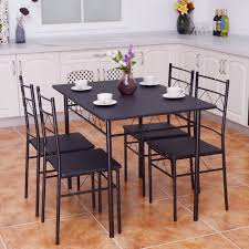 5PCS Metal Dining Table Set With 4 Chairs Breakfast Black Dinner ... Kids Ding Table And Chair Set Fniture Nantucket Coaster Stanton Contemporary Value City China White Nordic Event Party Oval Shape Pedestal For 6 With Brown Painted Also Teak Alinium Folding Portable Camping Pnic Party Ding Table With 4 Johoo Comfortable Plastic Restaurant The Table That Grows To Match The Party Ikea Amazoncom Miniature Tea Colctible Whosale Tables Suppliers Aliba Traditional V Modern Room Sets Expand Tempo And Chairs Granby Merlot 7 Pc Rectangle Woodback