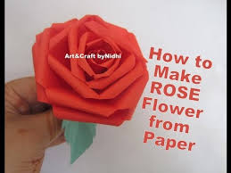 How To Make DIY ROSE Flower From Paper Kids School Project Craft