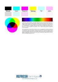 Colour Inkjet Printer Test Page