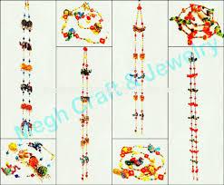 Wholesale Indian Handmade Crystal Work Wall Hanging Diwali Special Decor Items Pearl Beaded Door