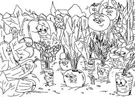 Free Vegetable Garden Coloring Books Printable Activity Pages For 12
