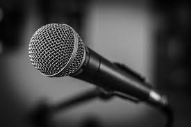 Microphone Stage Black And White Music Mic