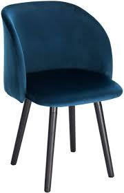 dining chair with velvet armrests model
