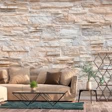 fleece photo wallpaper look sandstone wall 3d