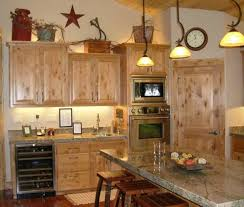 Rustic Decorating Above Kitchen Cabinets