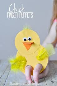 These Chick Finger Puppets Are A Cute Craft For Kids To Make And They Incredibly Fun Play With Afterwards Perfect Easter Or Spring